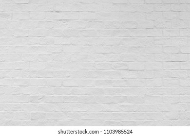 White brick wall texture and background.
