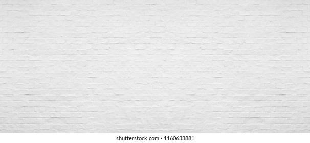 White brick wall for texture and background.