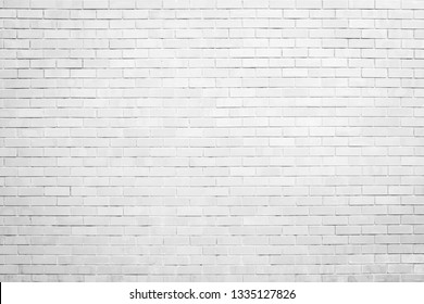 white brick wall texture and background with copy space