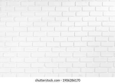 white brick wall texture for background