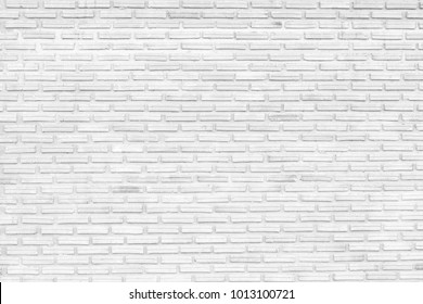 white brick wall texture of modern ideal for background and used in interior design.