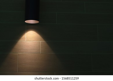 white brick wall under glass light reflections background