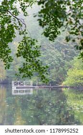 White bridge down by the lake