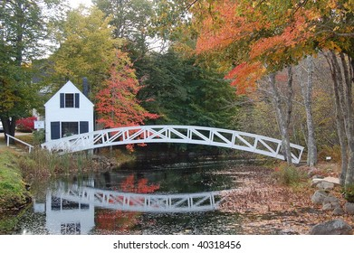 White bridge in Mount Desert Island