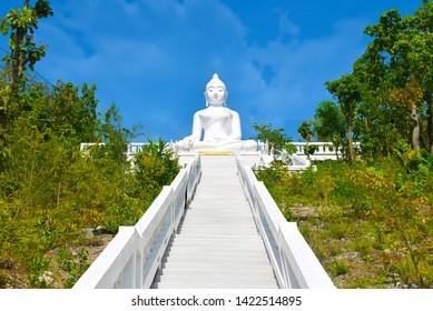 White Buddha Statue in Pai, Thailand