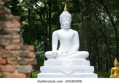 White Buddha in Thailand