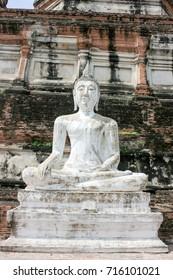 White Budha In Ayuthaya city