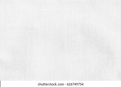 White burlap fabric sackcloth texture background white grey color