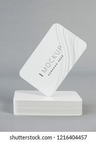 White business card design mockup