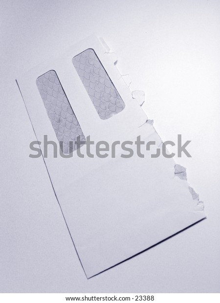 White business Envelope isolated on white background