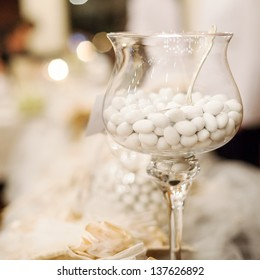 white candy for a wedding