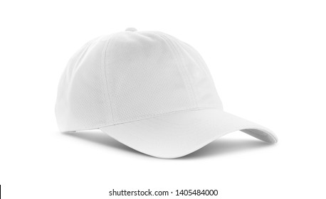 white canvas fabric cap for premium gift design mock-up isolated on white background with clipping path