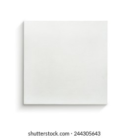 White canvas frame on white background.
