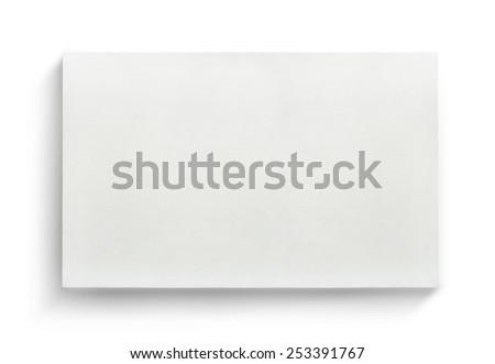 White Canvas Frame On White Background Stock Photo (Edit Now ...