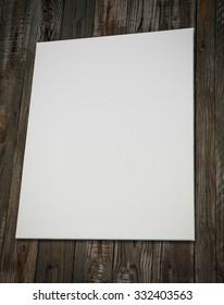 White canvas on walll