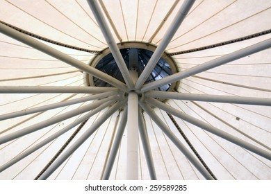 White canvas roof