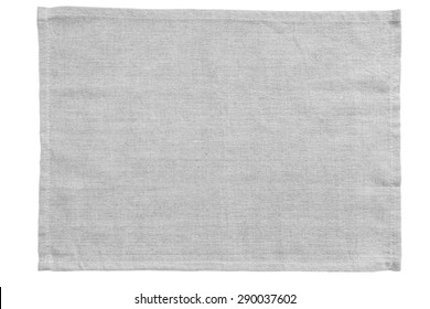 White canvas tablecloth isolated on white background