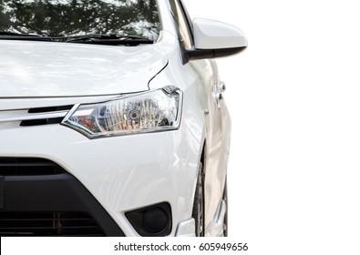 White car isolated on white background