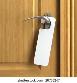 Door Knob Blank Doorhanger Mock Up Stock Photo (Royalty Free ...