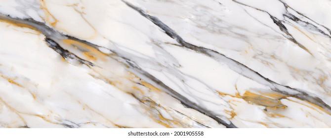 white carrara statuario marble texture background, calacatta glossy marble with brown streaks across the surface, satvario tiles, banco superwhite, italian blanco stone texture for digital wall tile.