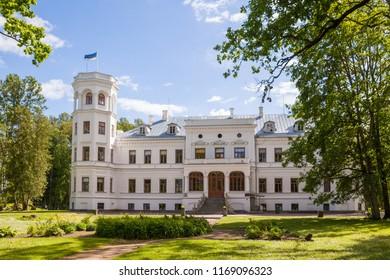 White castle Puurmani - saved theasure of modern in Estonia.