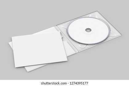 White CD, DVD Case & Booklet