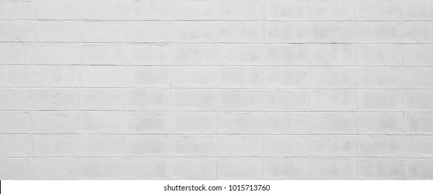white cement cinder block wall texture - background