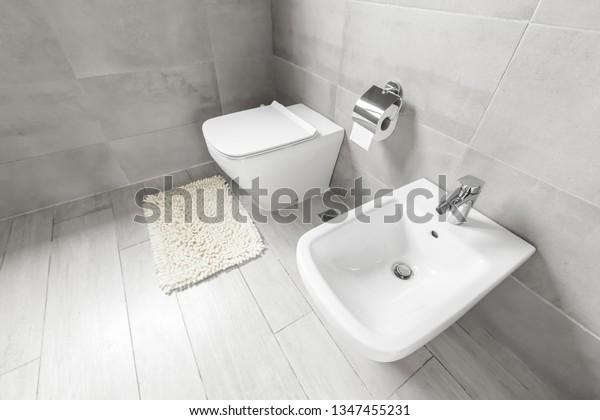 White Ceramic Bidet Toilet Luxury Bathroom Stock Photo Edit Now