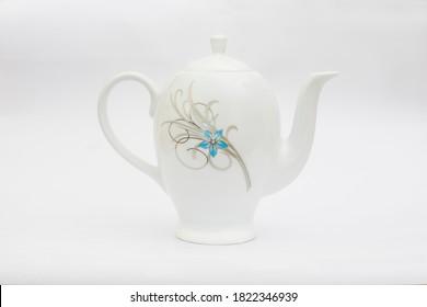 White Ceramic Coffee & Tea Kettle