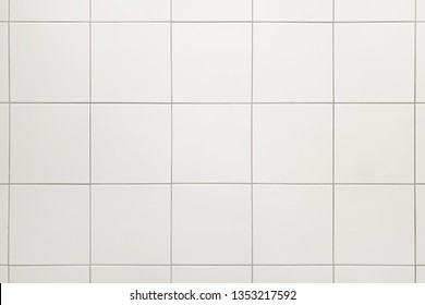 White ceramic square tile seamless pattern