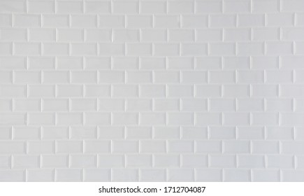 White ceramic tile background wall,White wall pattern.