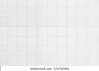 White ceramic wall tiles texture for the decoration of the bedroom. - Shutterstock ID 1727167441