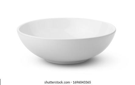 white ceramics bowl isolated on white background