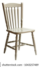 White chair isolated on white background with clipping path.