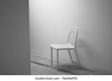 White chair. Minimalism