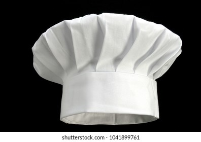 white chef's hat on black