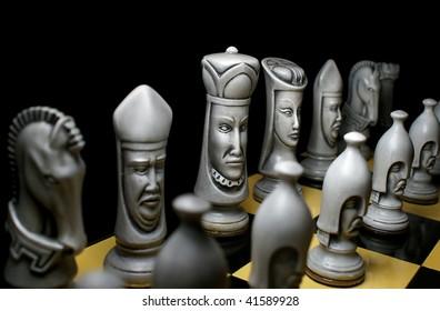 White chess line