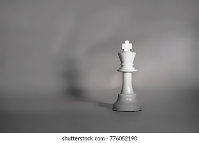 White chess piece of the king