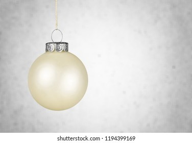 White Christmas Ball on blurred background