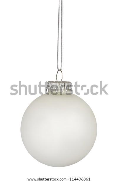 White christmas bauble isolated on white background