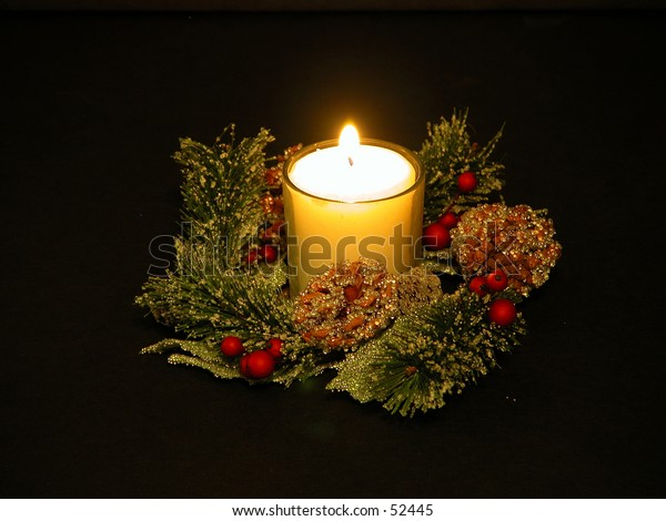 White Christmas Candle Decoration