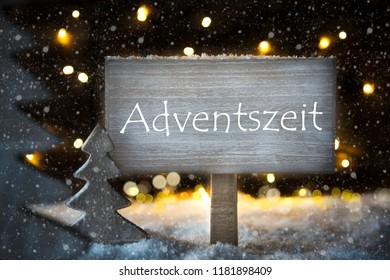 White Christmas Tree, Adventszeit Means Advent Season, Snowflakes