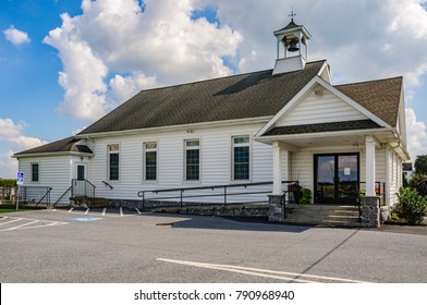 White Church in Amish Country in Pennsylvania, USA