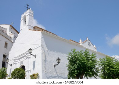 White  church  in Casares, a  mountain village of Malaga province, Andalusia, Spain.