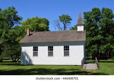 White church side view