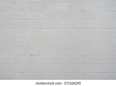 White Cinder Block Wall