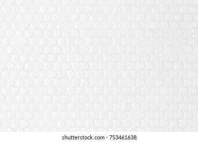 White circle seamless texture of mosaic tiles.
