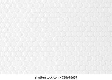White circle texture of mosaic tiles.