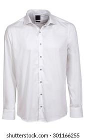 white classic long sleeve shirt