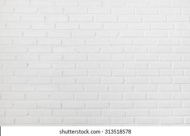 White clean clear brick wall texture